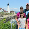 Lisa  Alex, Ava, and Maya at Portland Head Light 2014
