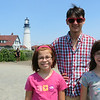 Maya, Beck and Ava at Portland Head Light