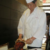 Carving our lunch-Peking Duck