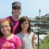 Maya, Lisa, and Ava at Portland Head Light