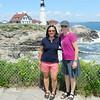 Quinn and Lisa at Portland Head Light